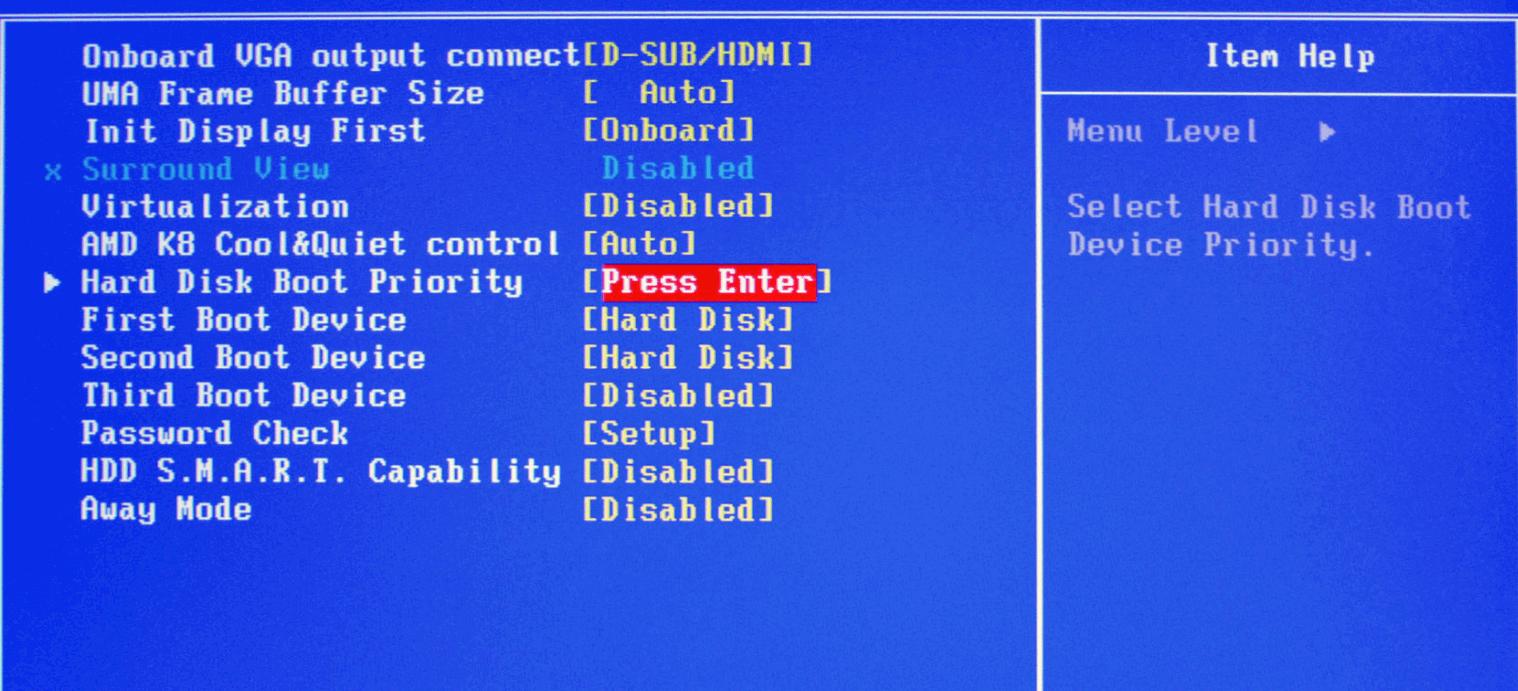 Восстановление диска BIOS