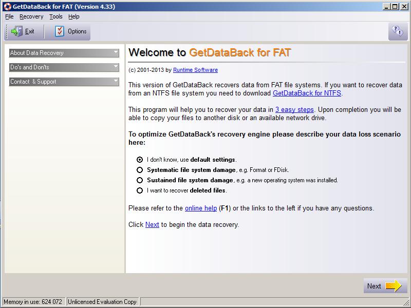 Работа с GetDataBack